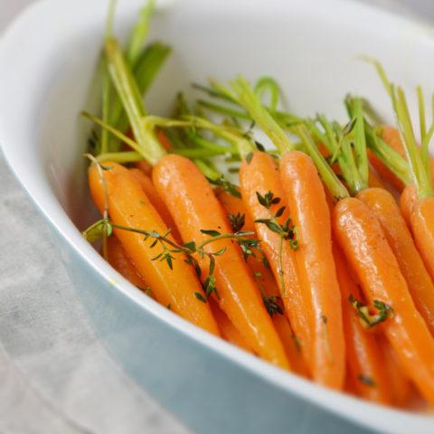 Orange Thyme Glazed Carrots