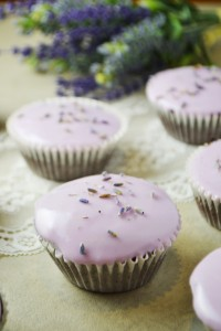 Flourless Chocolate & Lavender Cupcakes