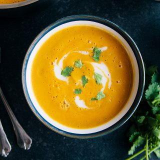 Spicy Root & Lentil Soup (Vegan + GF)