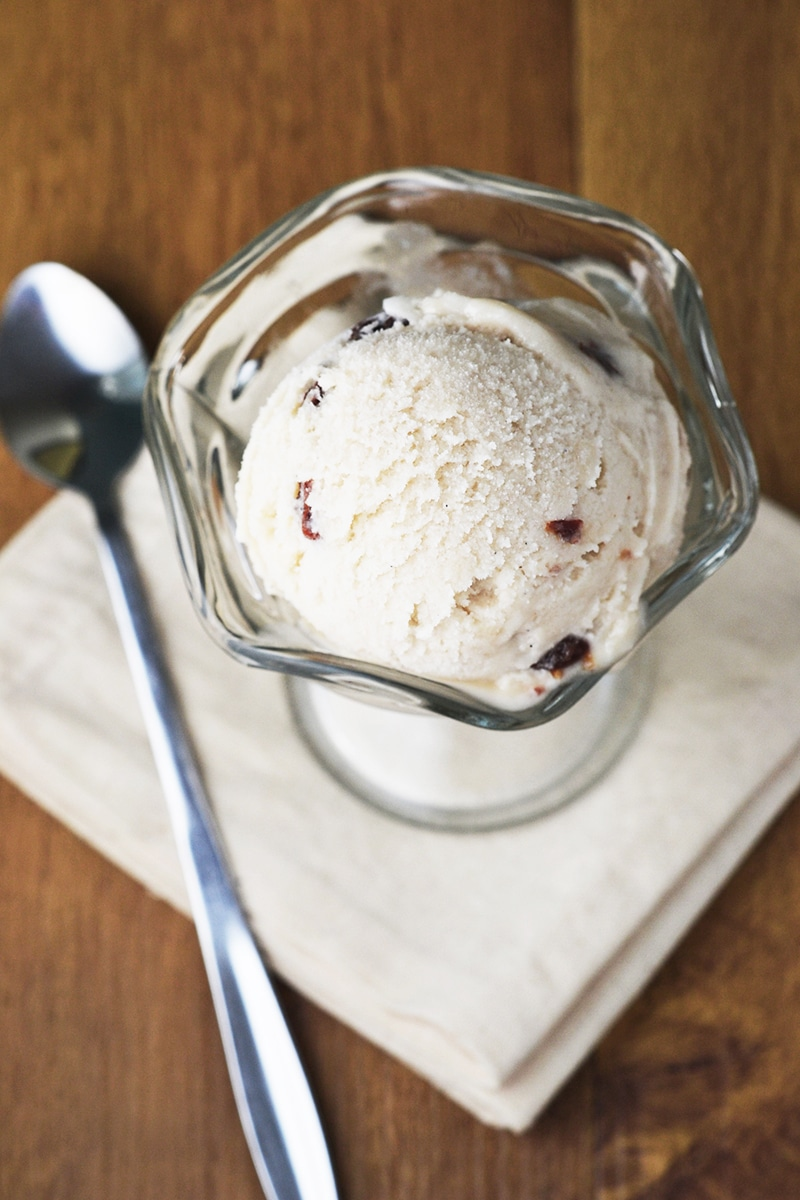 Vegan Rum & Raisin Ice Cream