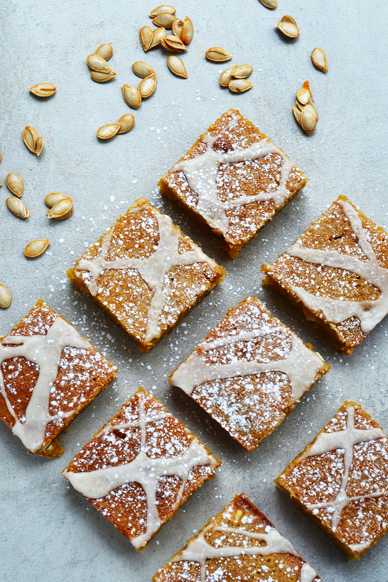 Pumpkin & Ginger Blondies