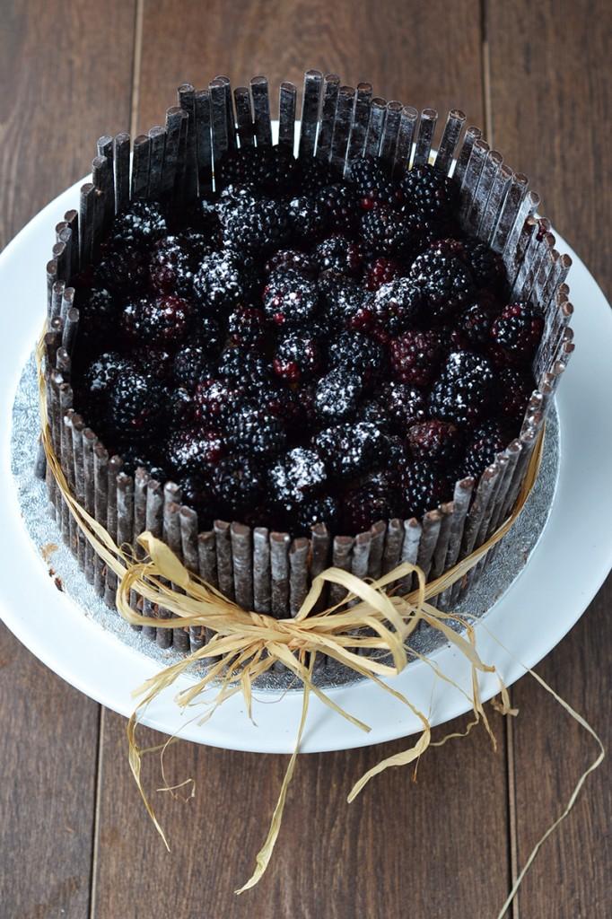 Chocolate, Blackberry & Ginger Crunch Cake