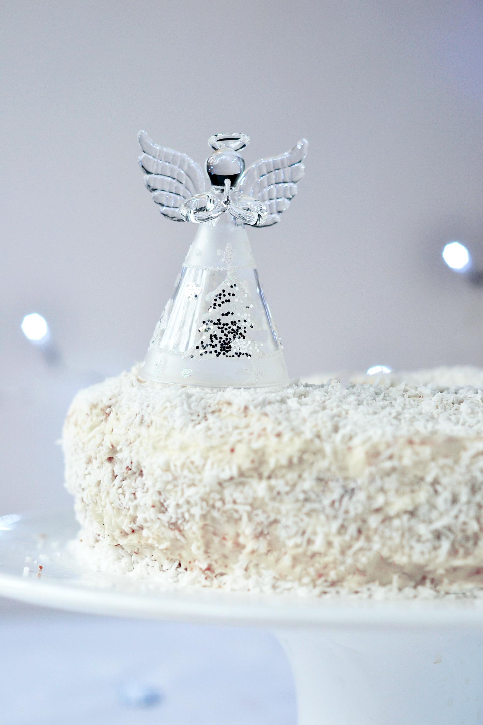 Coconut Snow Angel Cake Gluten Free Paleo Sugar Free