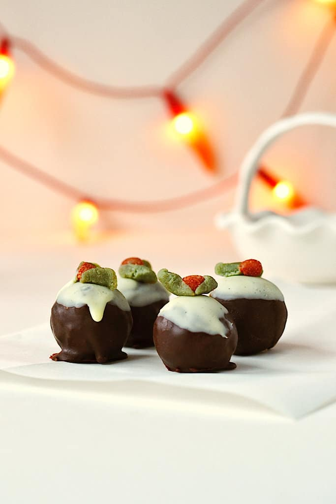 Healthy Raw Christmas Pudding Balls (Christmas Pudding Energy Balls with option for decorating) - Raw, Vegan, Gluten-free & Paleo