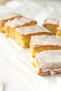 Lemon Drizzle Slices {Gluten-free, Dairy-free}