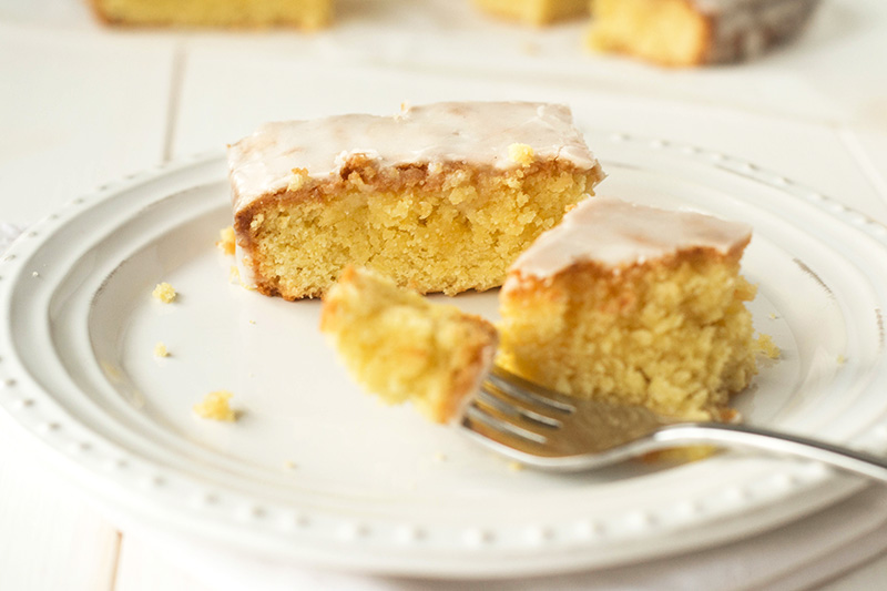 Lemon Drizzle Slices Glutenfree Dairyfree Wallflower Kitchen