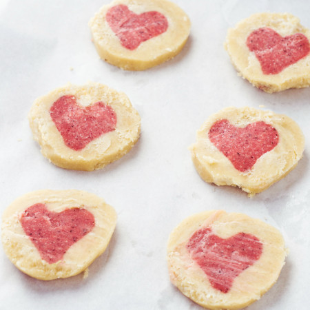 Raw Valentines Cookies