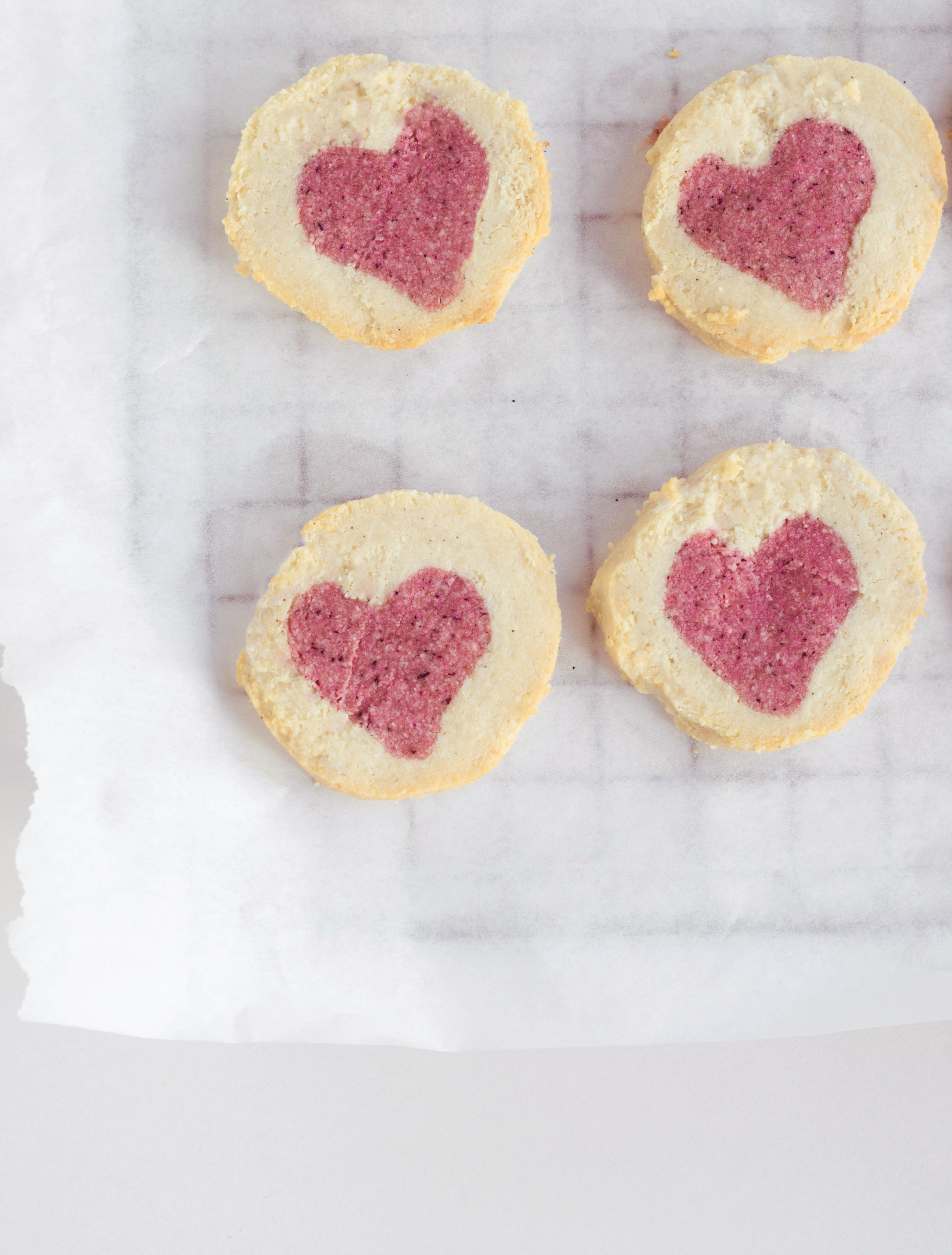 Almond Cookies Almond Rose Heart Cookies