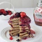 Banana Berry Pancakes {Gluten free, Dairy-free, Paleo}