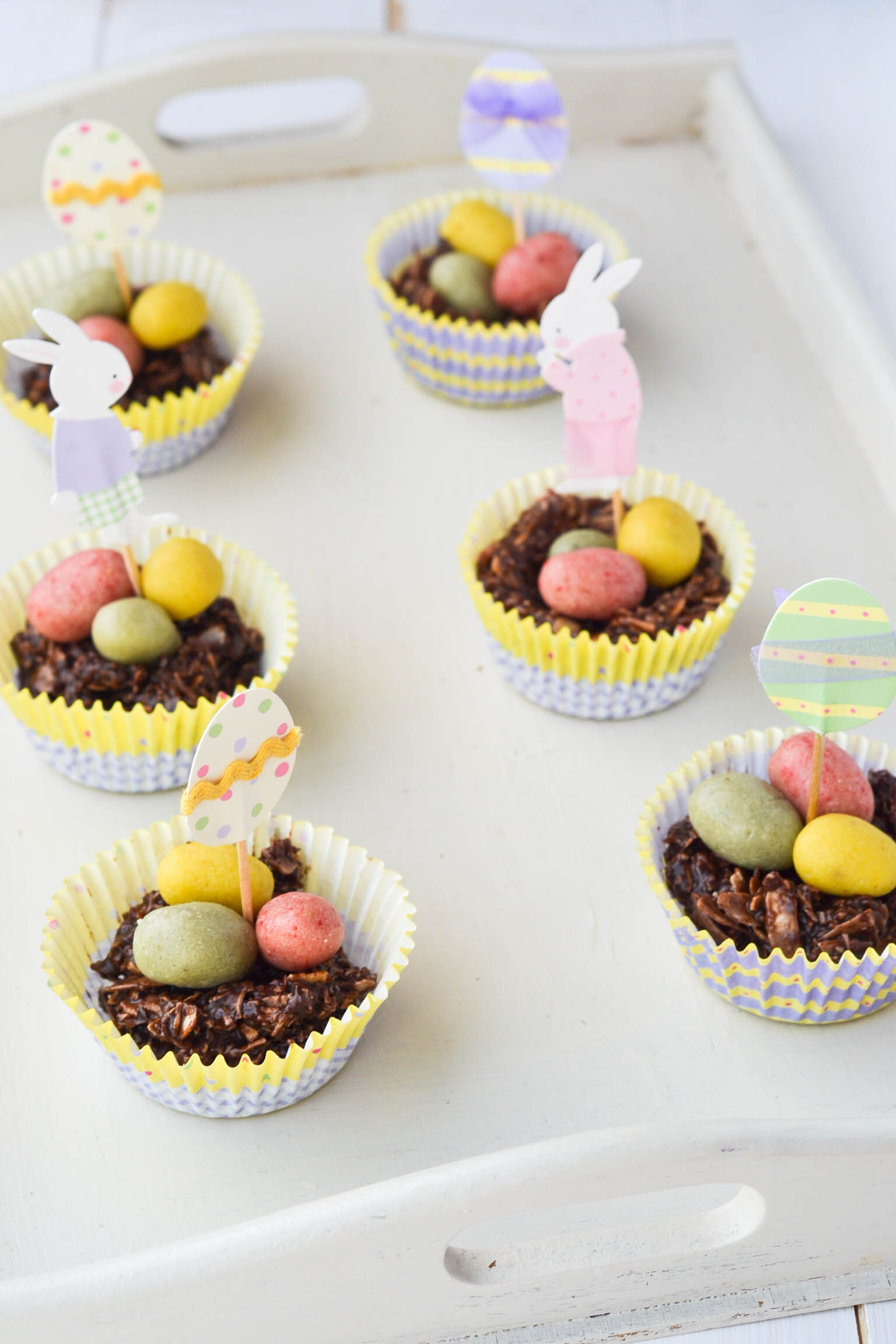 chocolate easter egg nests raw wallflower kitchen