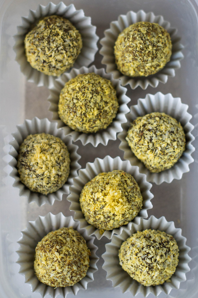 Raw Coconut & Turmeric Chocolate Truffles