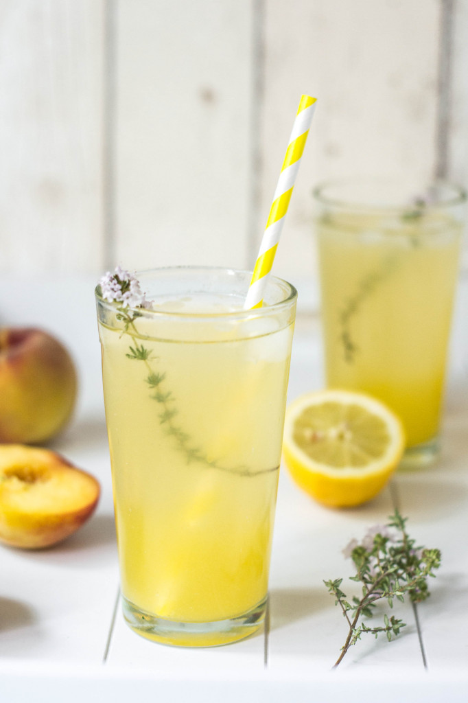 Maple Lemonade with Peaches & Thyme - Wallflower Girl