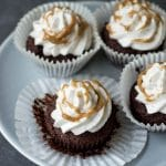 Flourless Chocolate Banana Cupcakes with Coconut Caramel Frosting