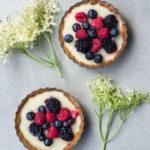 Elderflower & Berry Tarts {Vegan & Grain-free}