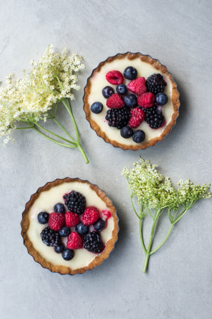 Elderflower & Berry Tarts (Vegan & Grain-free)