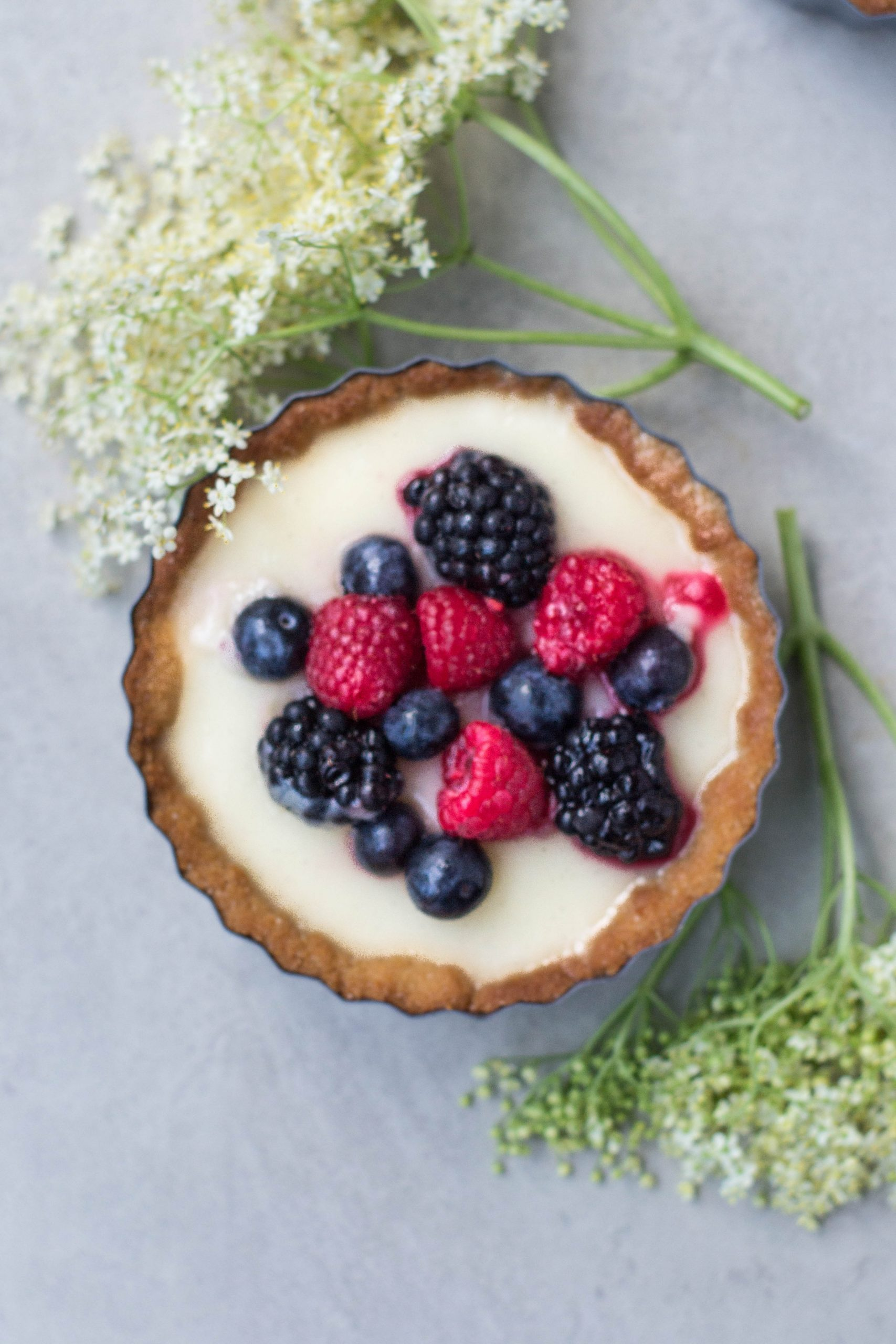 Lemon & Berry Tarts (Vegan + GF)