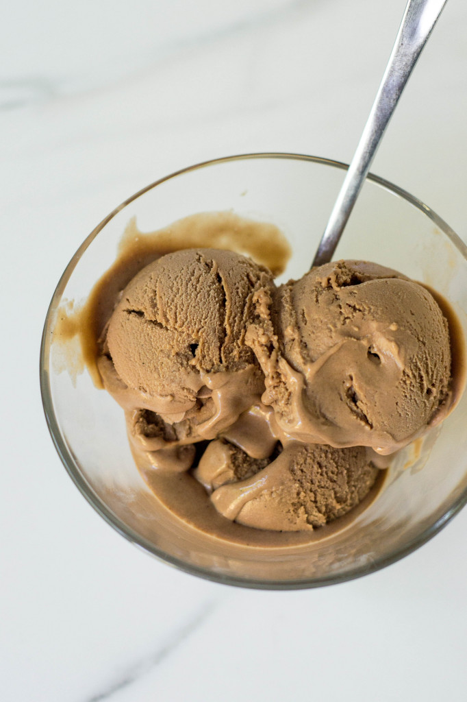 #Vegan Malted Maca Chocolate Ice Cream