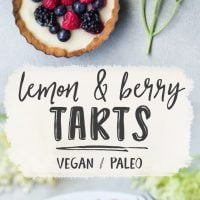 Elderflower & Berry Tarts {Vegan & Grain-free}