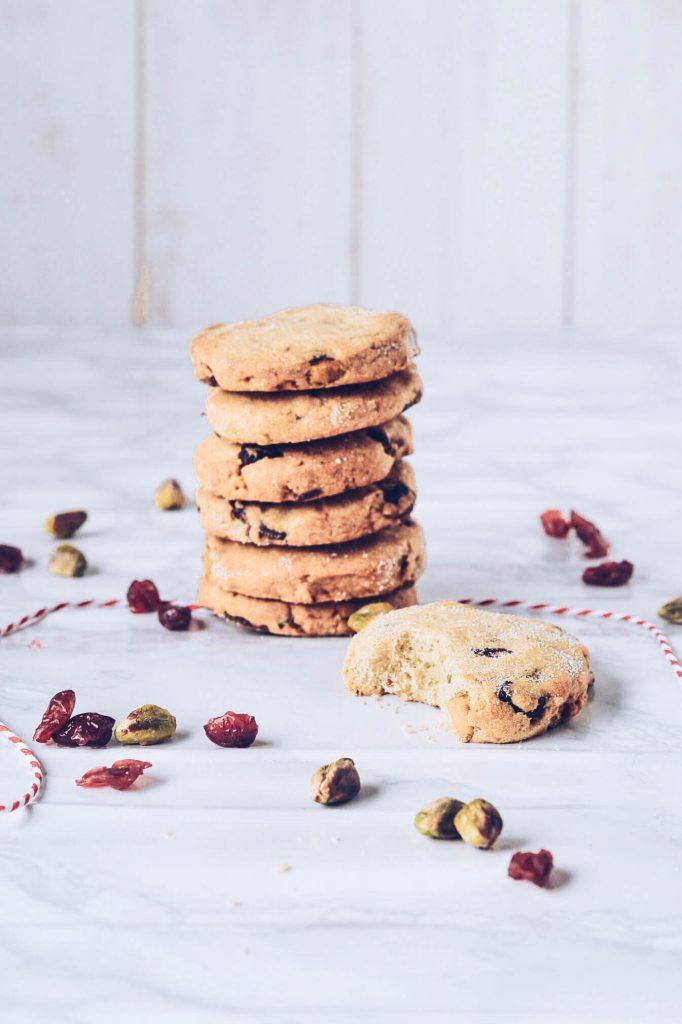 Cranberry, Orange & Pistachio Cookies - Wallflower Girl
