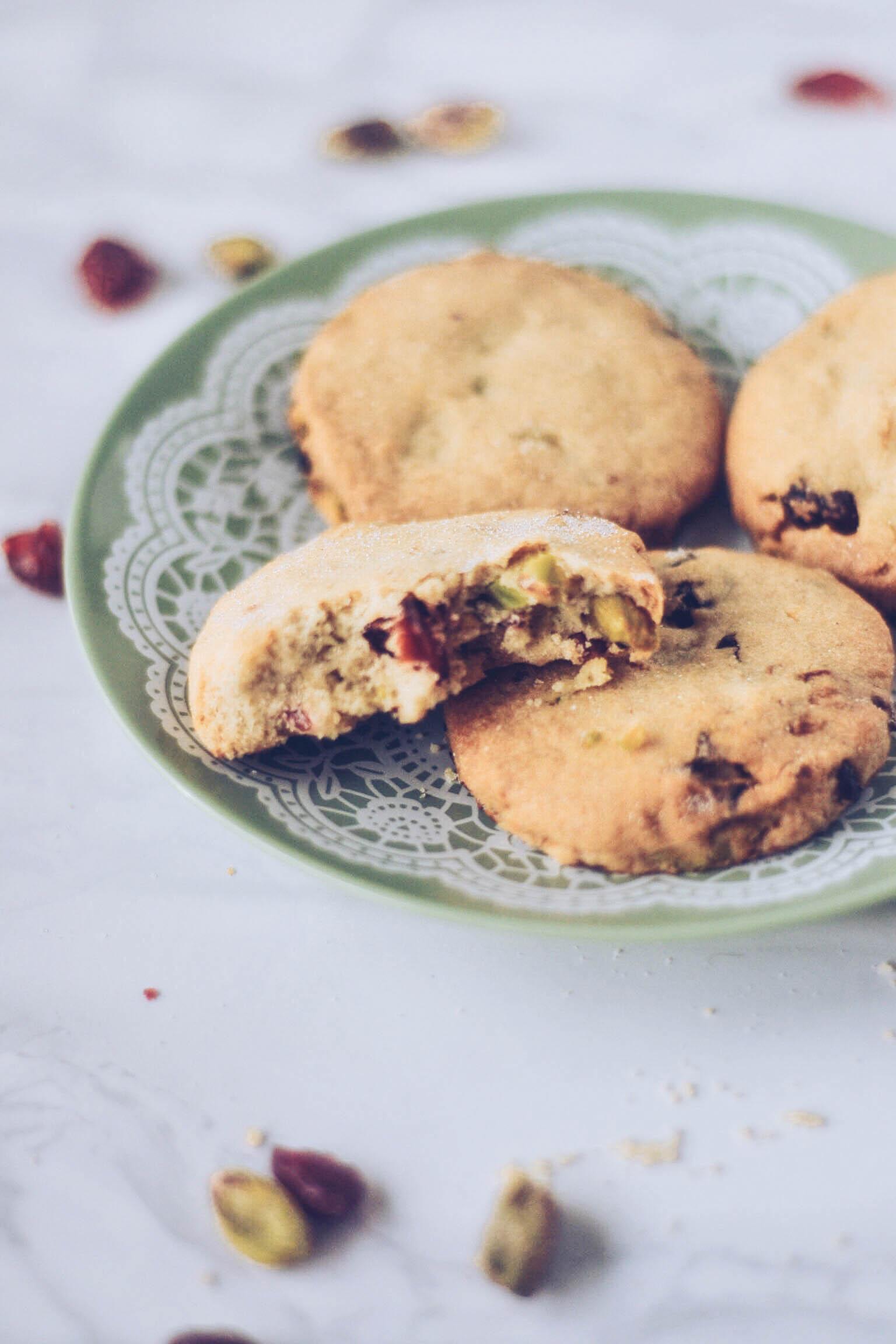 Cranberry, Orange & Pistachio Cookies - Wallflower Kitchen