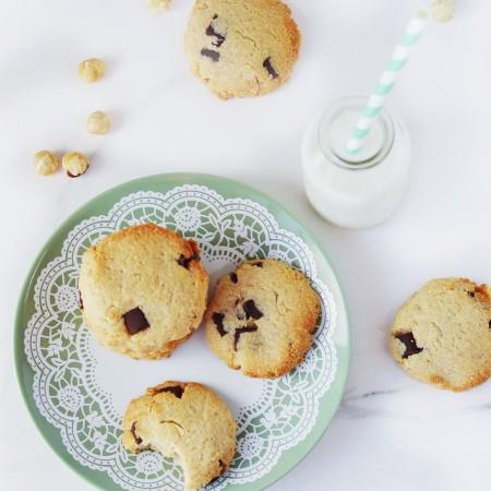Hazelnut Chocolate Chip Cookies (Paleo & Vegan)