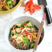 Vegetable Stir-fried Soba noodles (野菜蕎麦炒め)