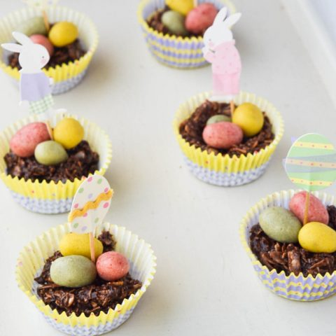 Raw Chocolate Easter Egg Nests