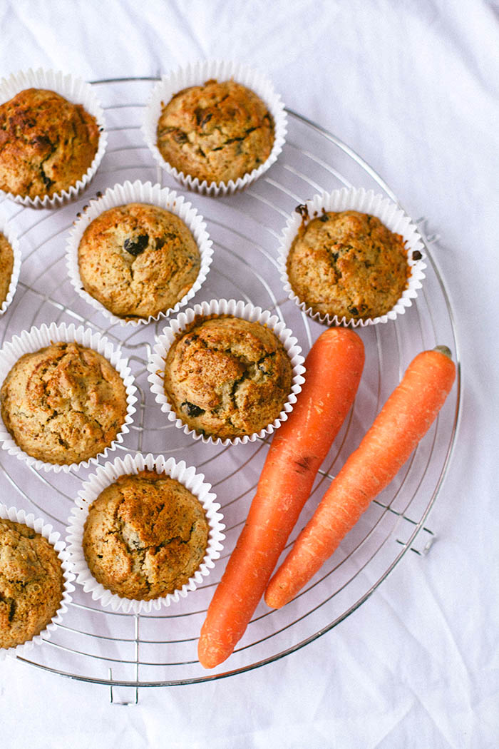 Healthy Carrot Cake Muffins (Vegan)