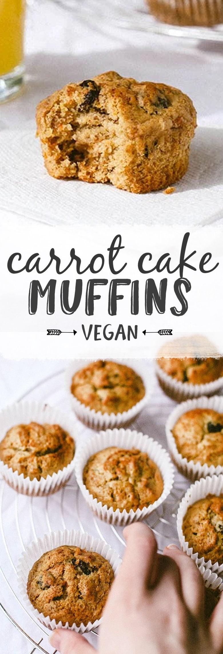 Carrot Cake Breakfast Muffins (Vegan)