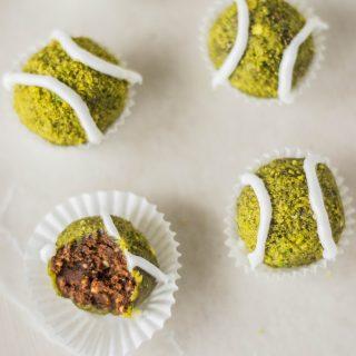 Nakd Pistachio Tennis Ball Truffles #vegan #glutenfree #raw
