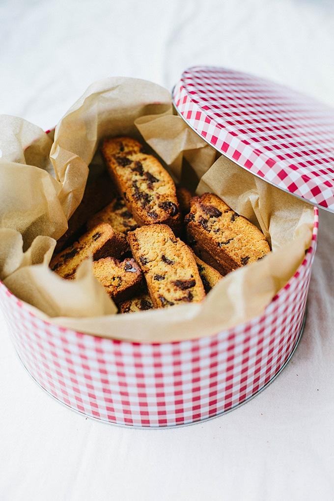 Gluten-free Chocolate Chip Biscotti - Wallflower Kitchen