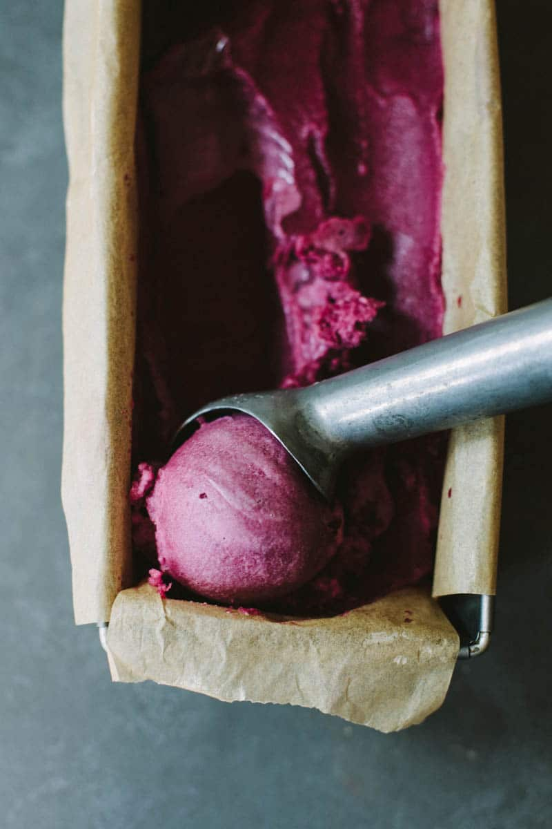 Purple Grape & Rosemary Sorbet (Vegan + Paleo)