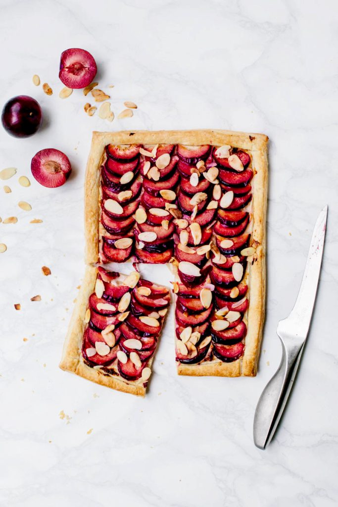Easy Plum & Almond Tart (Vegan)