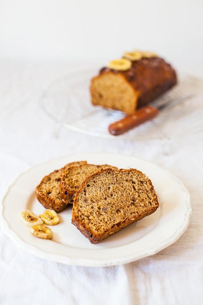 Salted Caramel Banana Bread - #Vegan #Wheatfree and #Fatfree