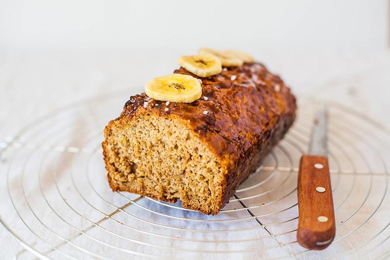 Salted Caramel Banana Loaf - Wallflower Kitchen