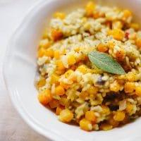 Vegan Butternut Squash & Chilli Risotto