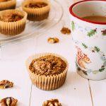 Coffee & walnut Oatmeal Muffins (Gluten-free & Vegan)