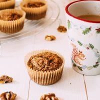 Coffee & Walnut Oatmeal Muffins (Gluten-free)