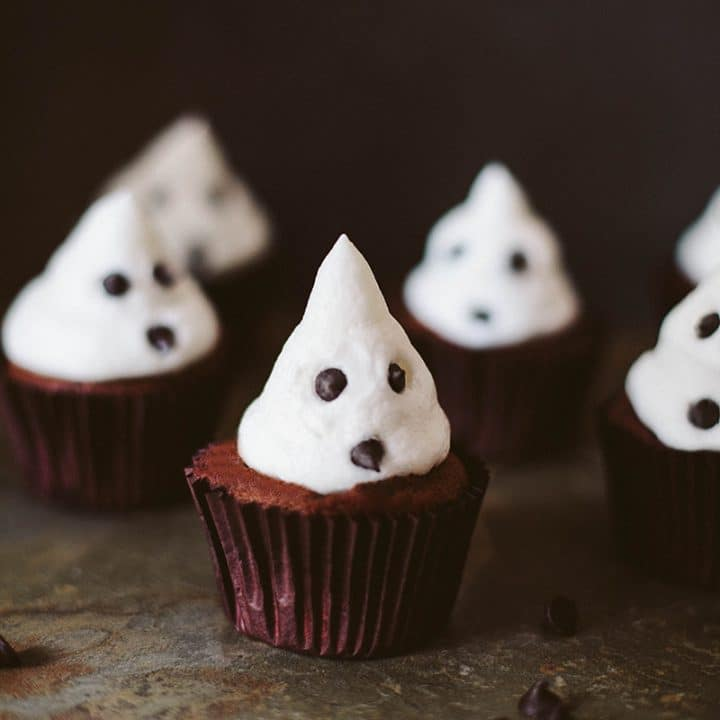 Ghost Cupcakes! (Vegan)