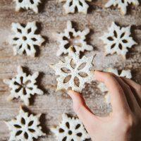 Spelt Cinnamon Snowflake Cookies