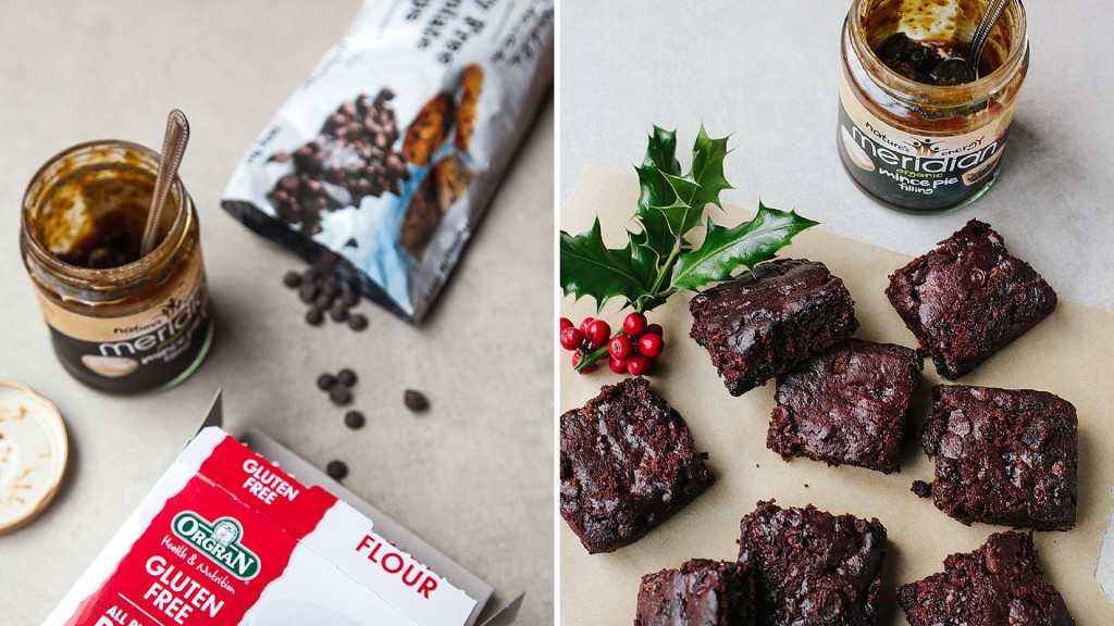 Christmas Brownies #Vegan #GlutenFree