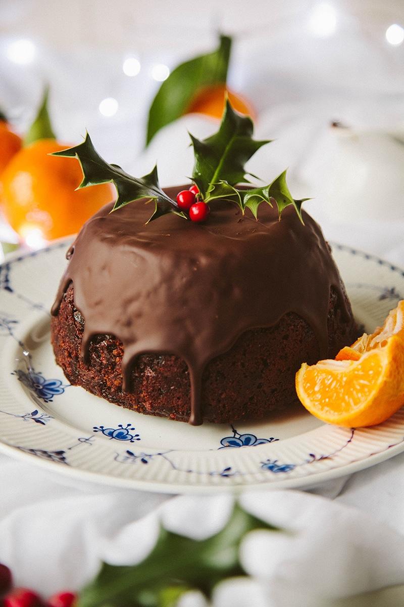 Chocolate Orange Vegan Christmas Pudding