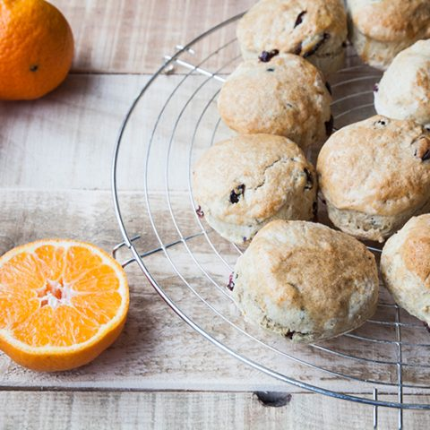 Vegan Orange & Cranberry Scones