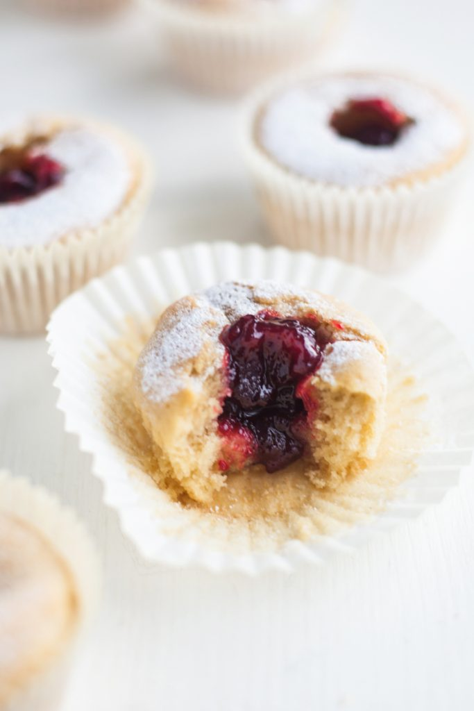 Jam Donut Muffins (Vegan)