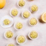Raw Lemon Poppy Seed Mini Muffins