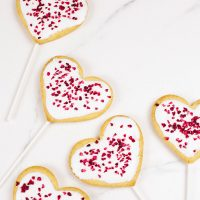 Vegan Valentines Day Cookie Pops (Gluten-free Option)