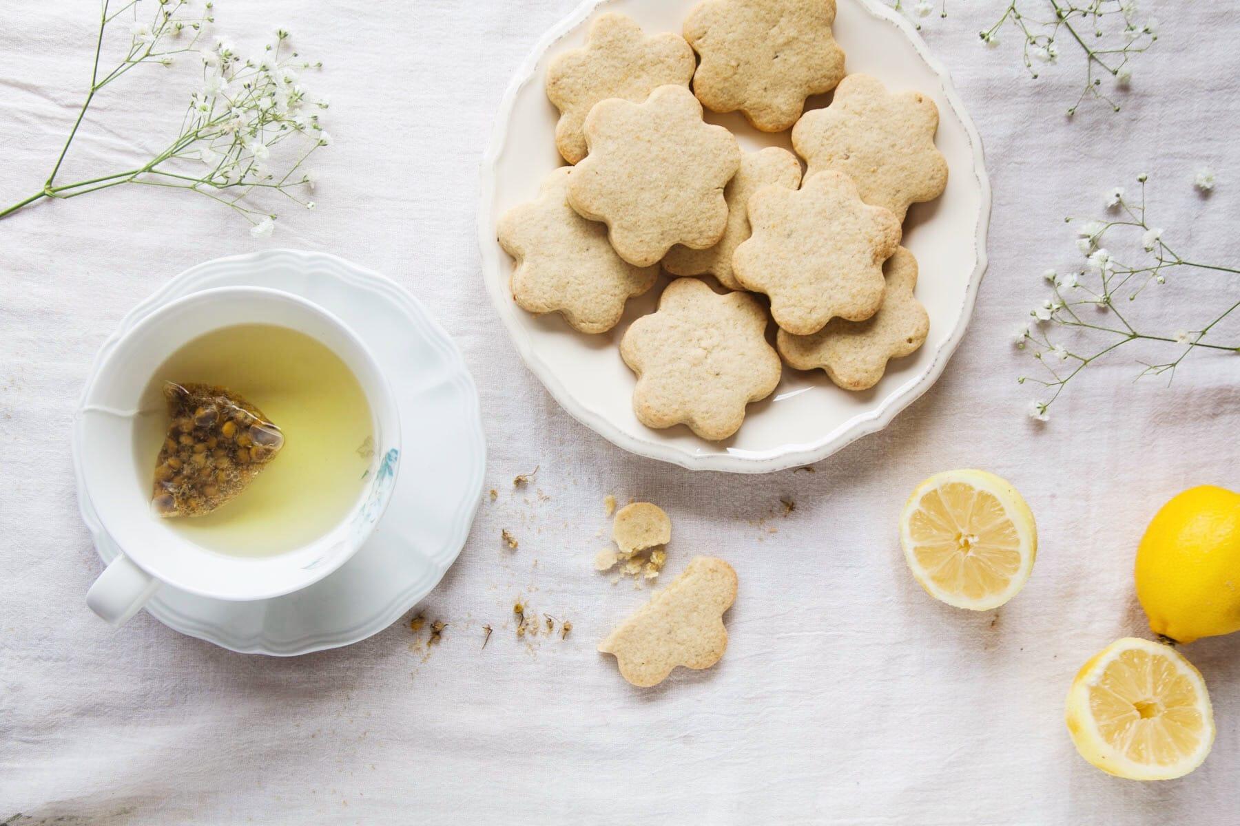 Vegan Chamomile & Lemon Shortbread
