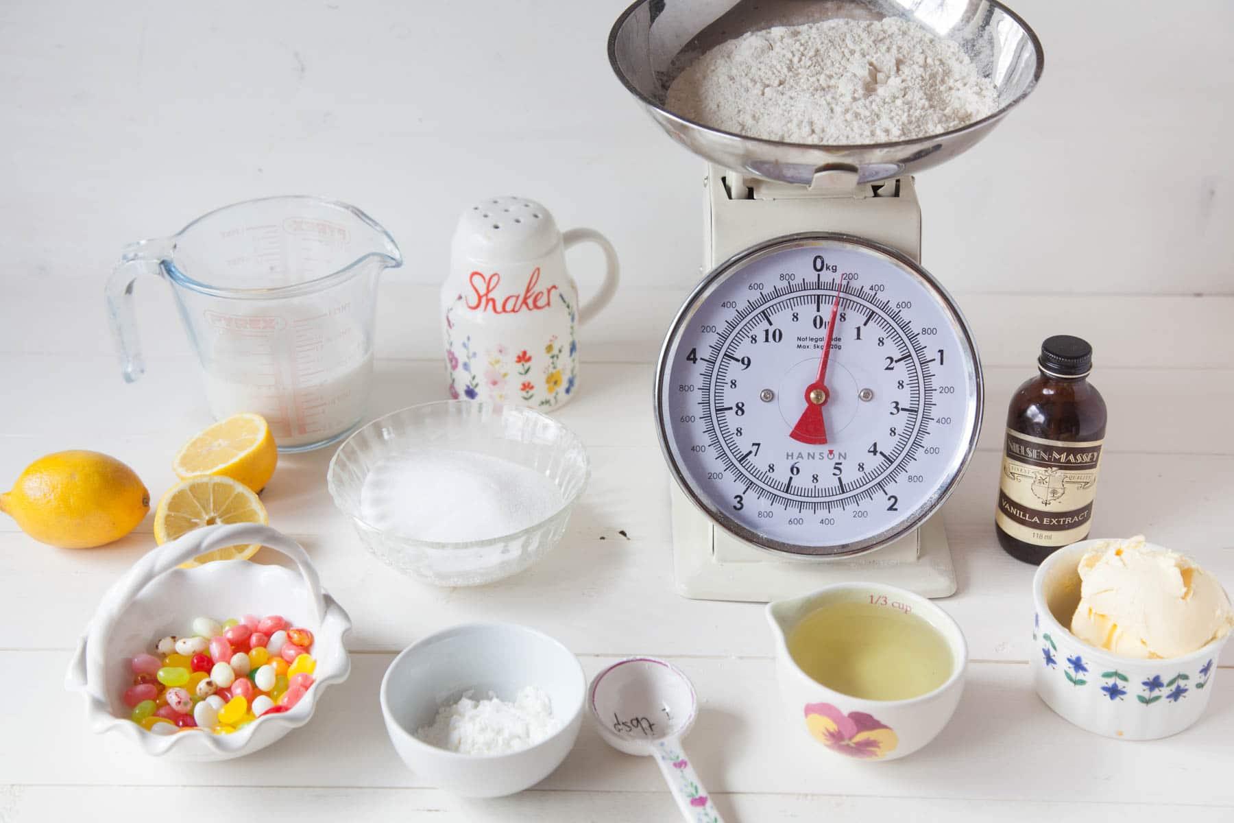 Vegan Lemon Cupcake Ingredients