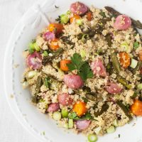 Roast Spring Vegetables with Lemon & Herb Quinoa