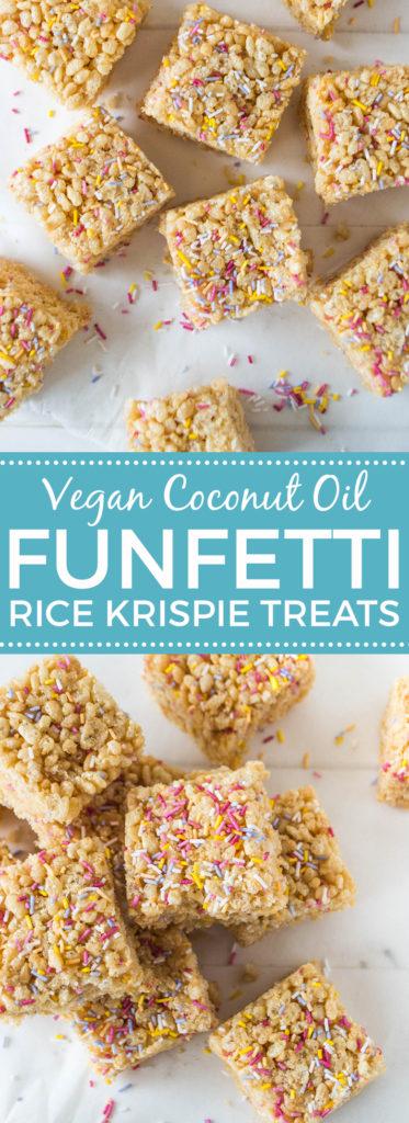 Funfetti Rice Krispie Treats (Vegan)